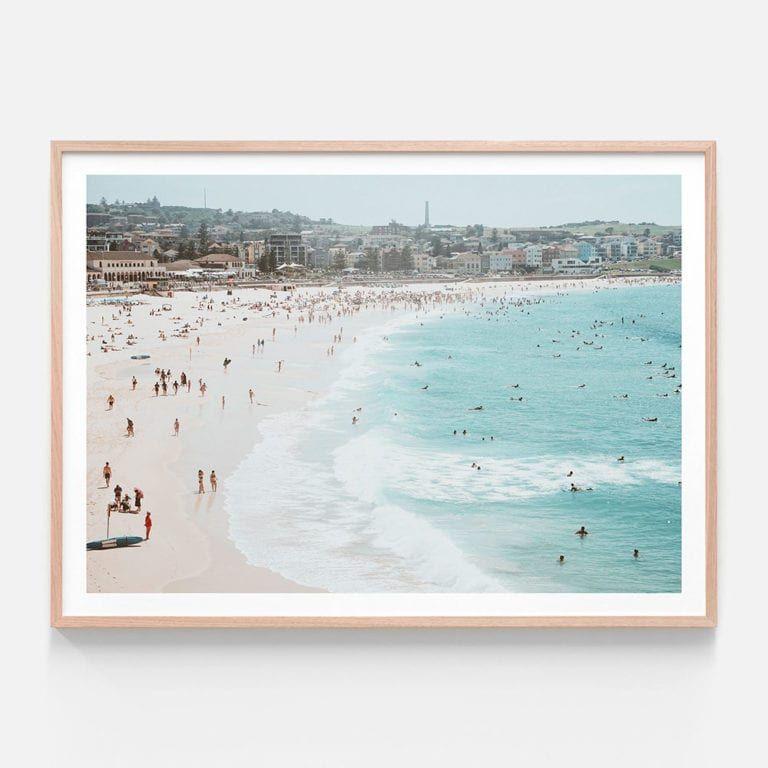 App357 Bondi Beach Oak Framed Print In 2020 Bondi Beach Beach
