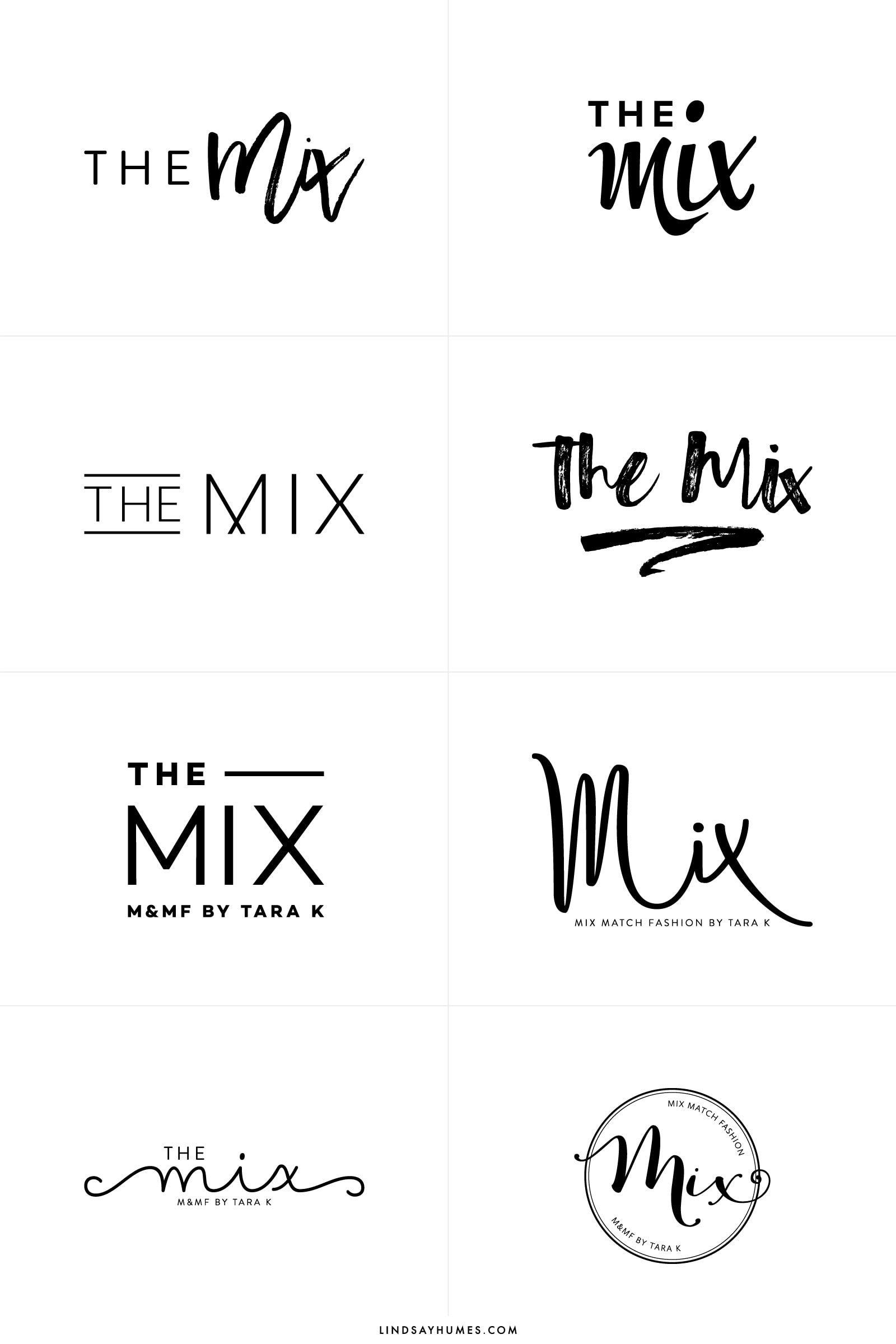 The Mix by Tara Fashion logo design, Blog logo, Logo