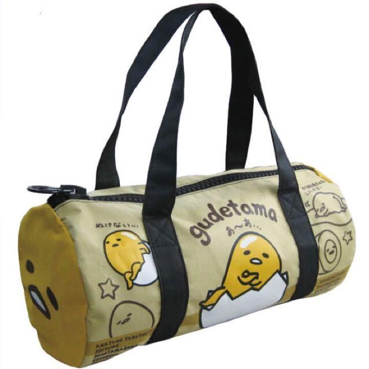 Gudetama Bag Mega Zip Duffel Gold Bags Gudetama Little