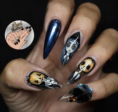 pinkathleen faircloth on nails and polish  halloween