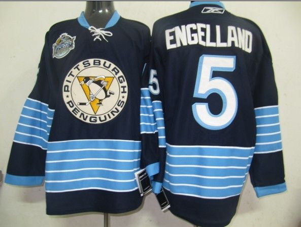 new style a9228 fa841 pittsburgh penguins deryk engelland 5 blue authentic jersey sale