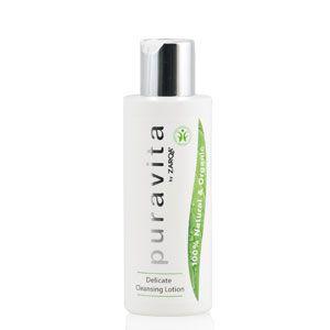 Zarqa   Puravita cleansing lotion delicate 150ml - Zarqa Puravita is een zachte, milde gezichtsreiniging; verwijdert meteen alle make-up van gezicht en ogen. Nu met 30% korting!