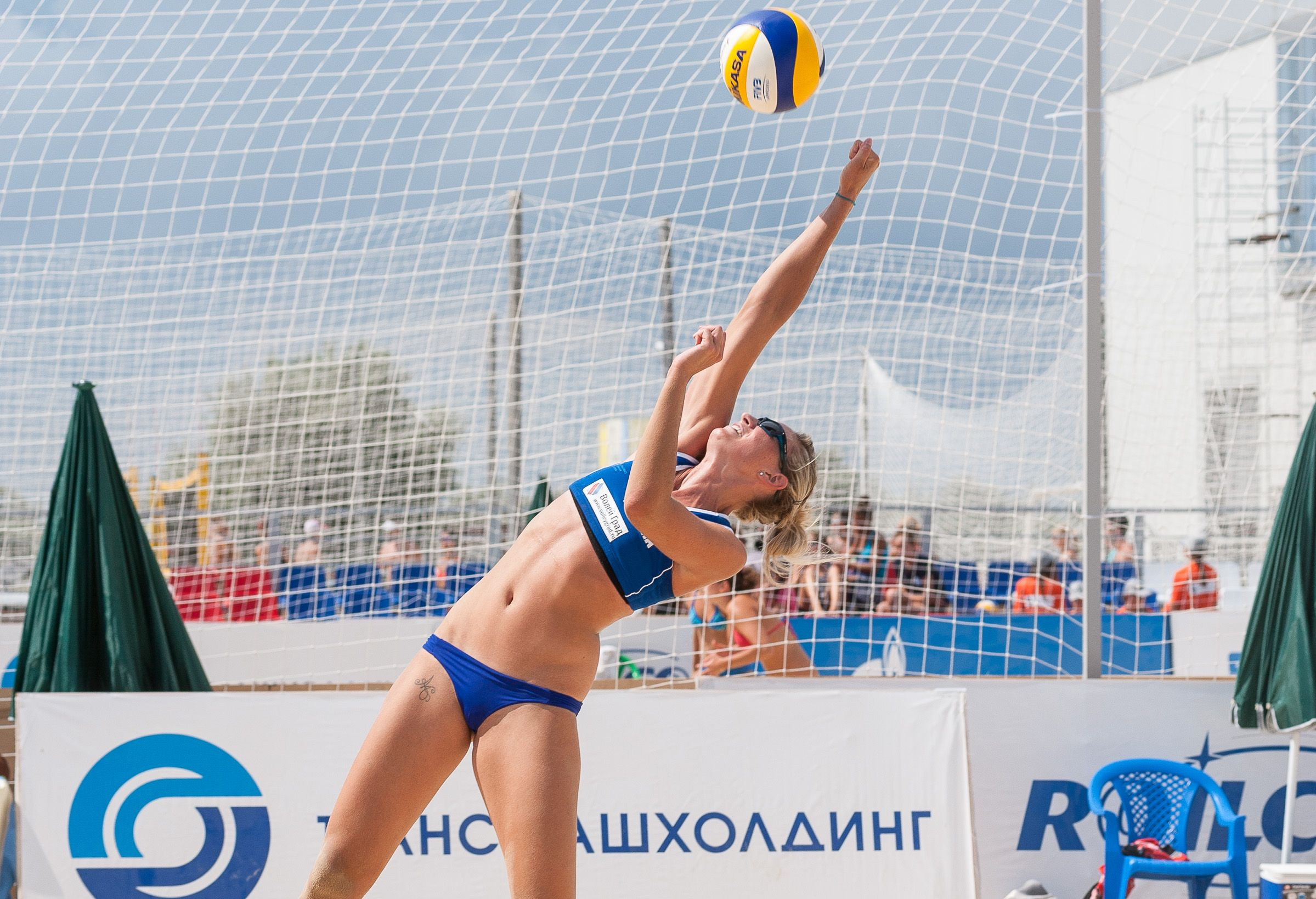 France S Madelin Adelin Reaches For The Ball At Fivb Beach Volleyball Anapa Grand Slam Fivb Beach Volleyball Beach Volleyball Female Volleyball Players