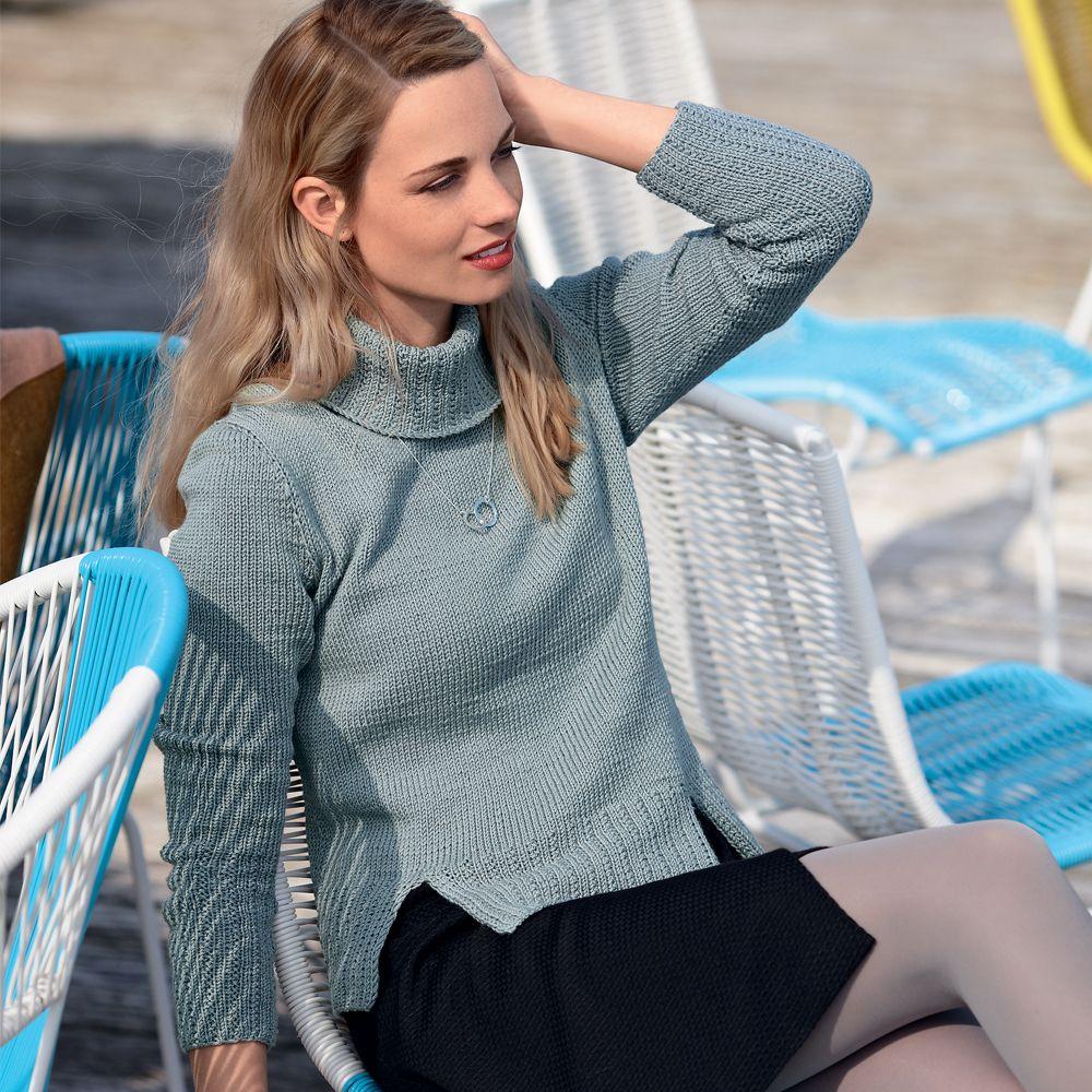 схемы вязанных комбинированных пуловеров и свитеров