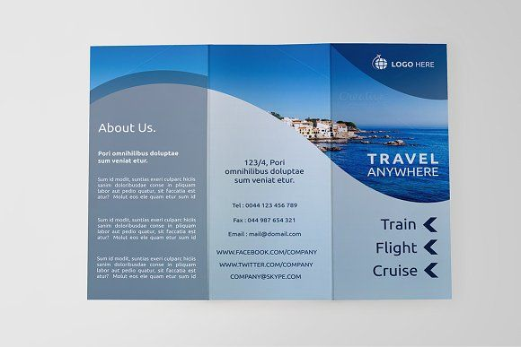 Travel Tri-fold Brochure - Dal by NEXDesign on @creativemarket - travel brochure