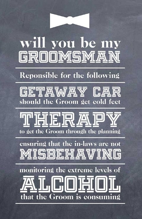 How to ask your groomsmen a witty letter chwv wedding diy how to ask your groomsmen a witty letter chwv wedding diy pinterest wedding wedding and wedding stuff junglespirit Images