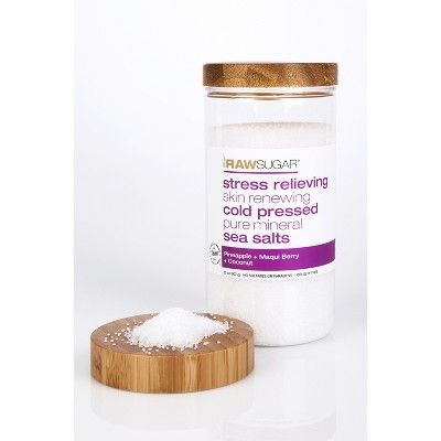 Raw Sugar Pineapple Maqui Berry And Coconut Sea Salts 28oz Raw