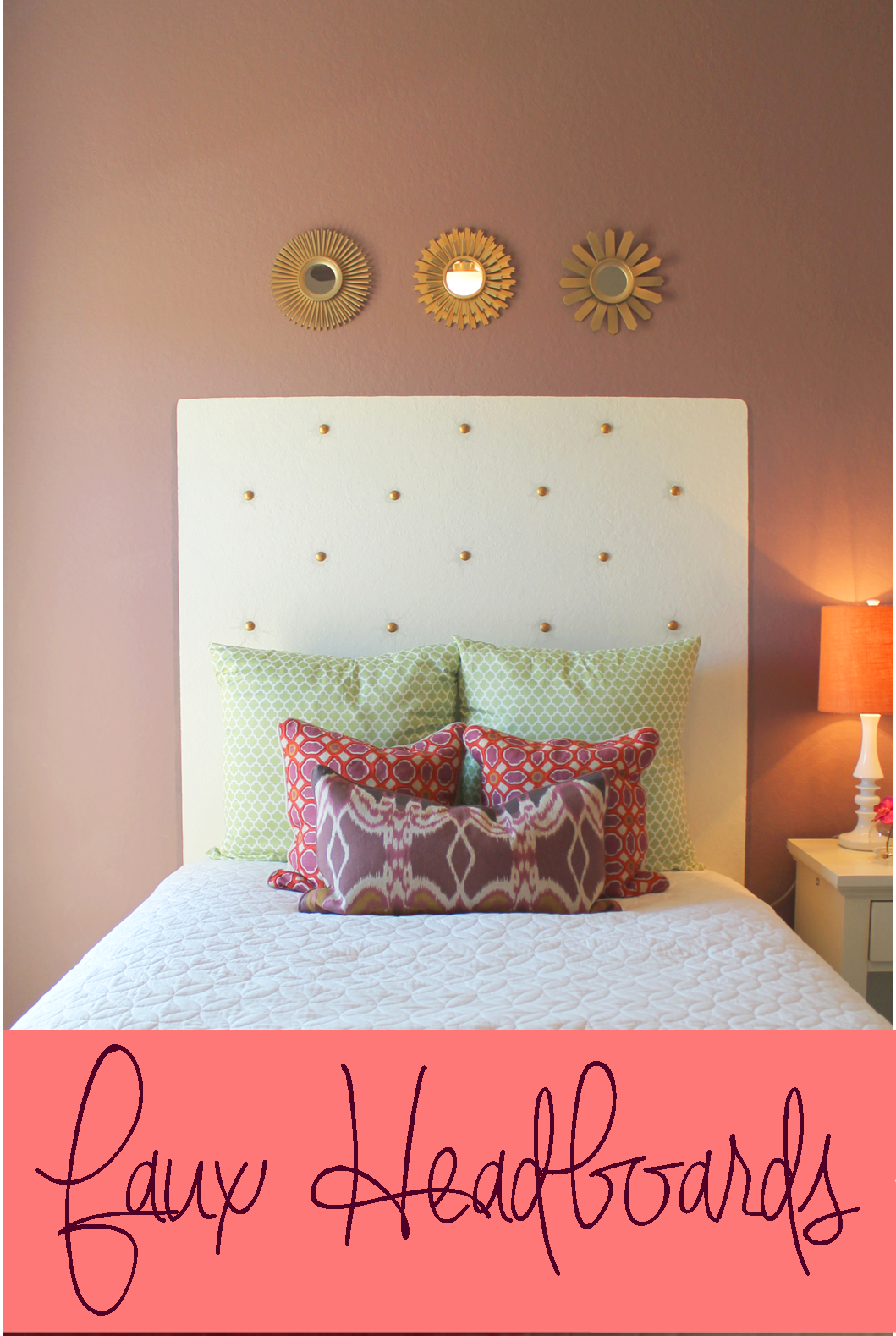 Faux Painted Headboard With Nailhead Tufting Diy Handmade Headboards Hyperlink Get Together