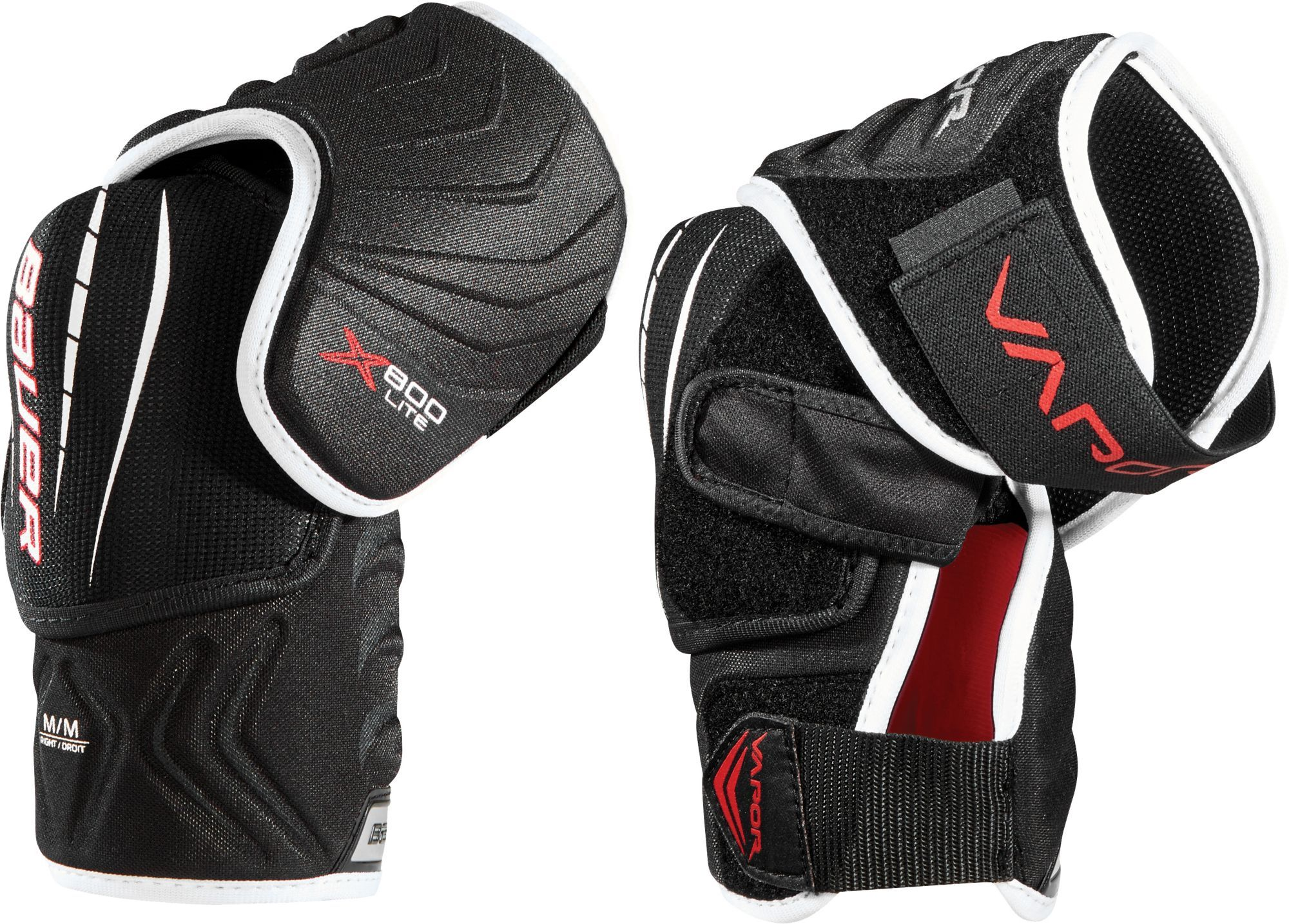 Bauer Senior Vapor X800 Lite Ice Hockey Elbow Pads Black Big Kids