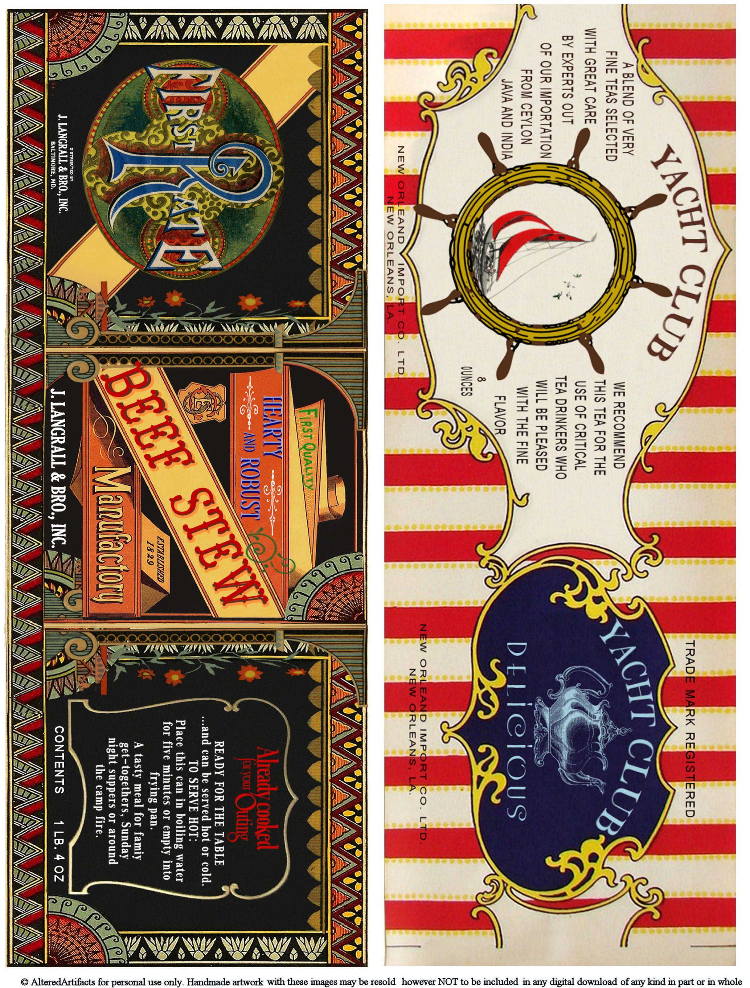 Free Printable Can Labels Vintage Brands Images For