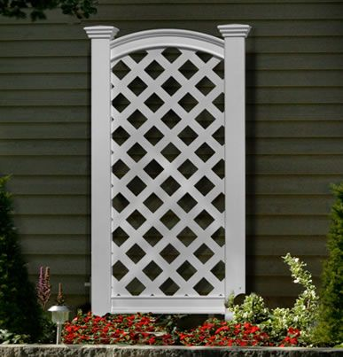 Luxembourg Privacy Screen White Vinyl Garden Trellis By Eden With Images Backyard Privacy Screen Privacy Screen Outdoor Garden Trellis