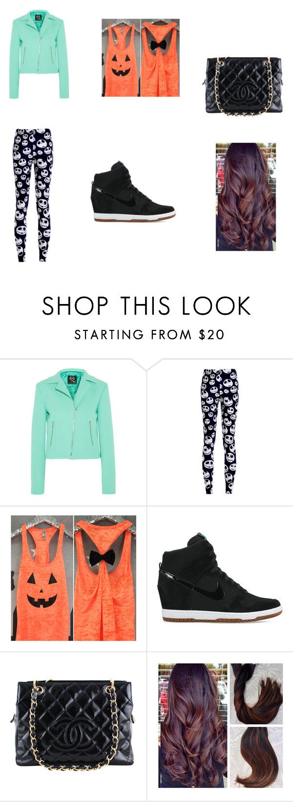 """""""Halloween as a Teen"""" by eliana-flores ❤ liked on Polyvore featuring McQ by Alexander McQueen, NIKE and Chanel"""