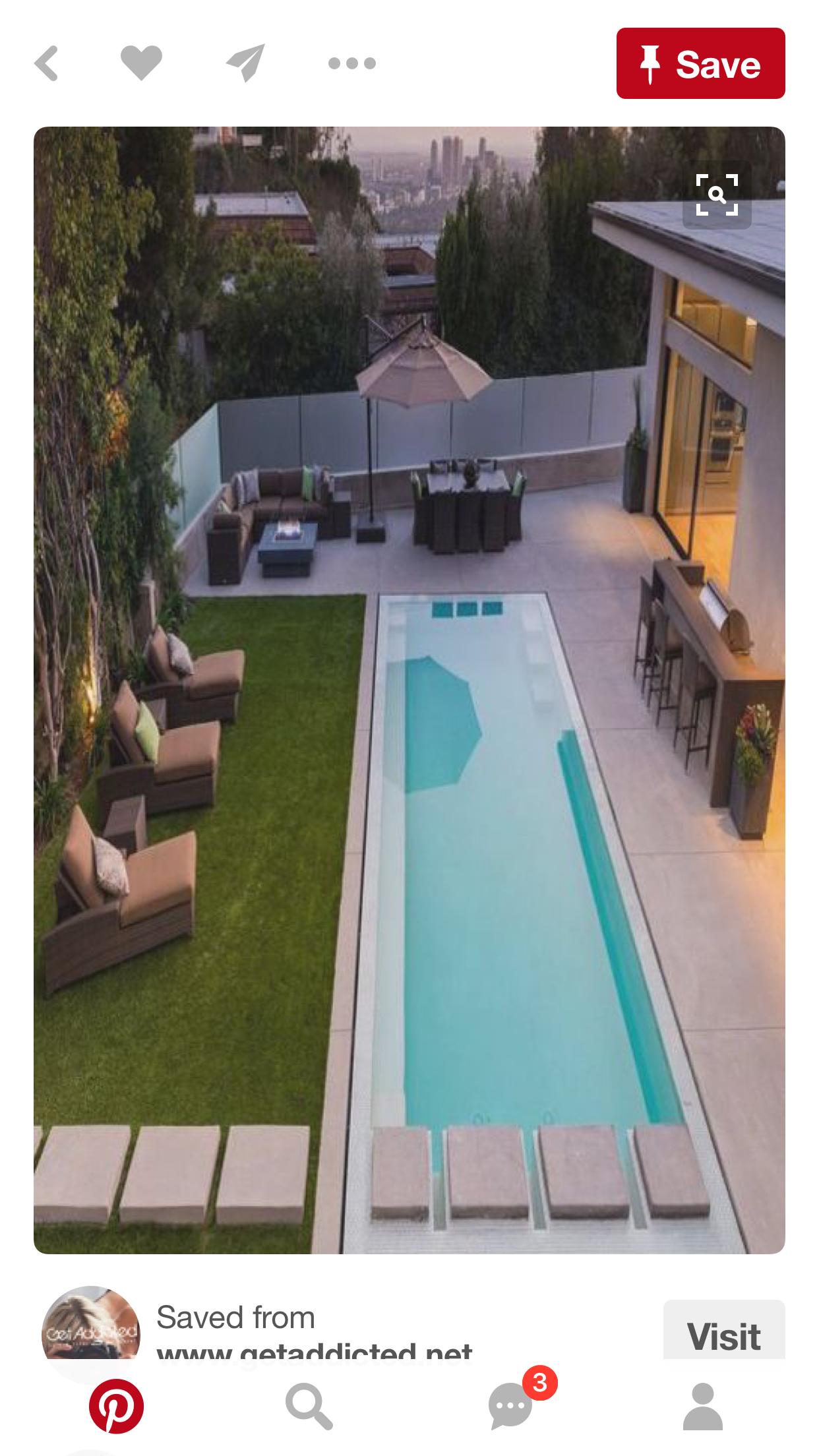 Pin By Alma Cortez On Dreamhome Backyard Pool Lap Pool Designs Small Backyard Pools