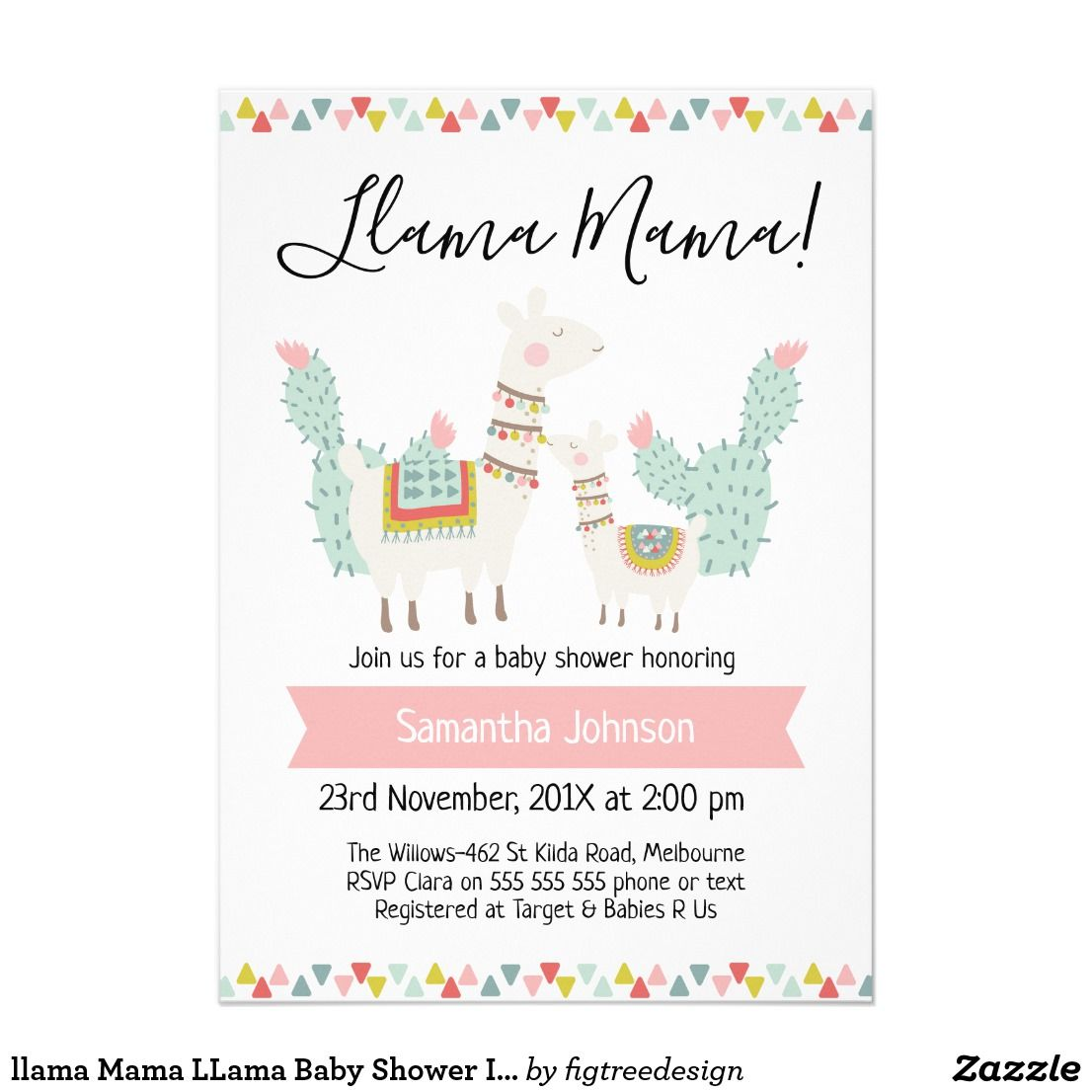Llama Mama Llama Baby Shower Invitation Zazzle Com In 2019 Llama