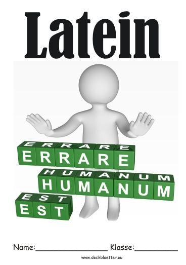 Deckblatt Latein | Schule | Deckblatt schule, Deckblätter ...