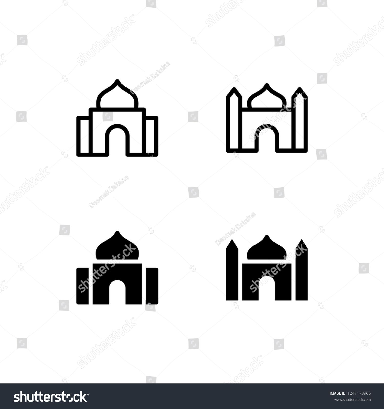mosque icon design mosque islam dome landmark muslim icon logo vector symbol set sign design button vector logo logo design sign design mosque icon design mosque islam dome