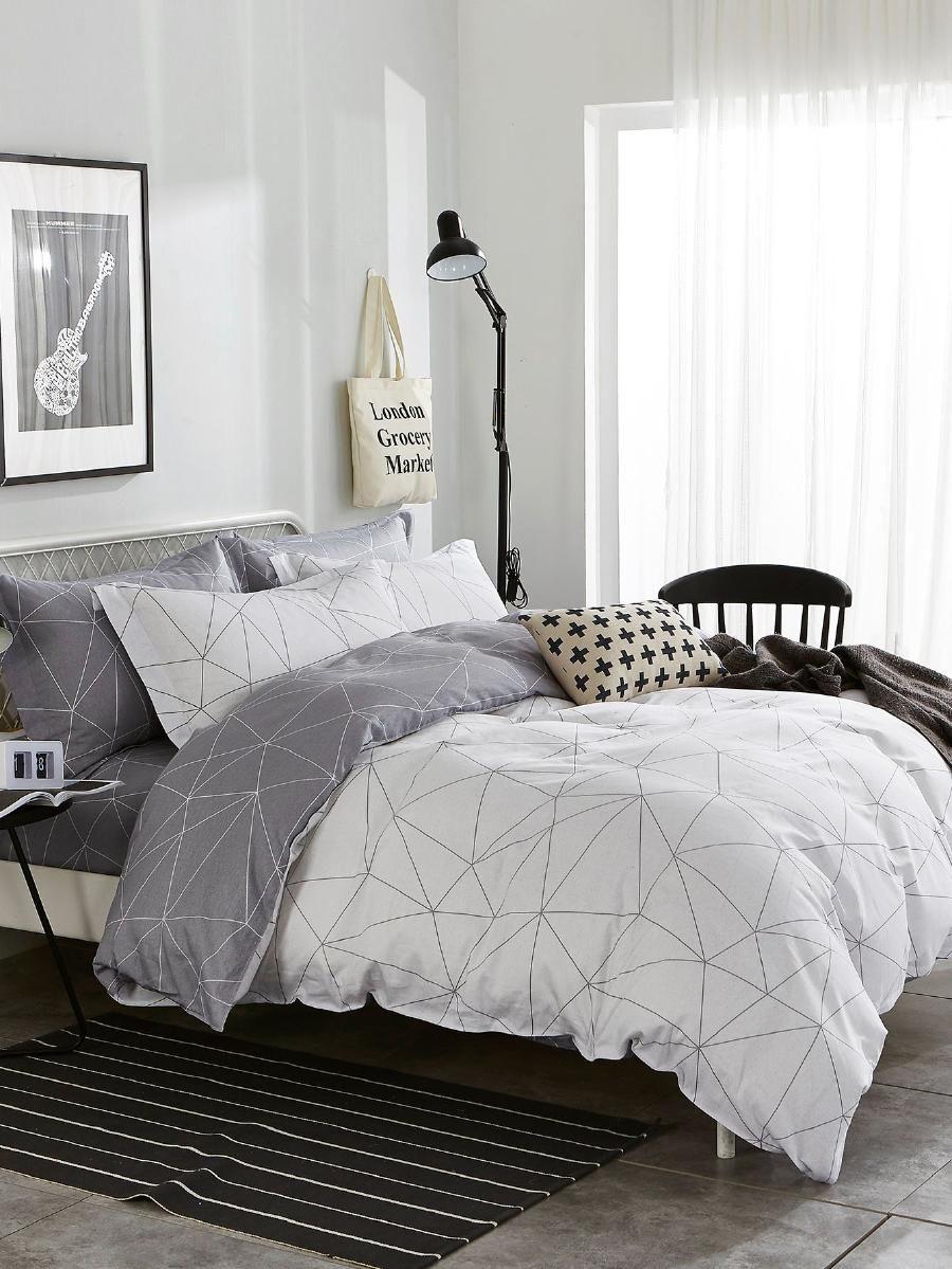 Geometric Print Duvet Cover Bedroom Decor Bedroom Duvet Bed Comforter Sets