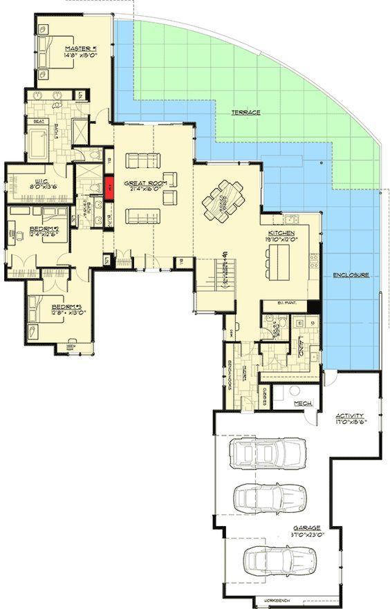 Plan 54224hu Gabled Entry Mountain Modern House Plan Houses