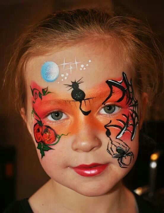 halloween face painting pinterest kinderschminken halloween und schminken halloween. Black Bedroom Furniture Sets. Home Design Ideas