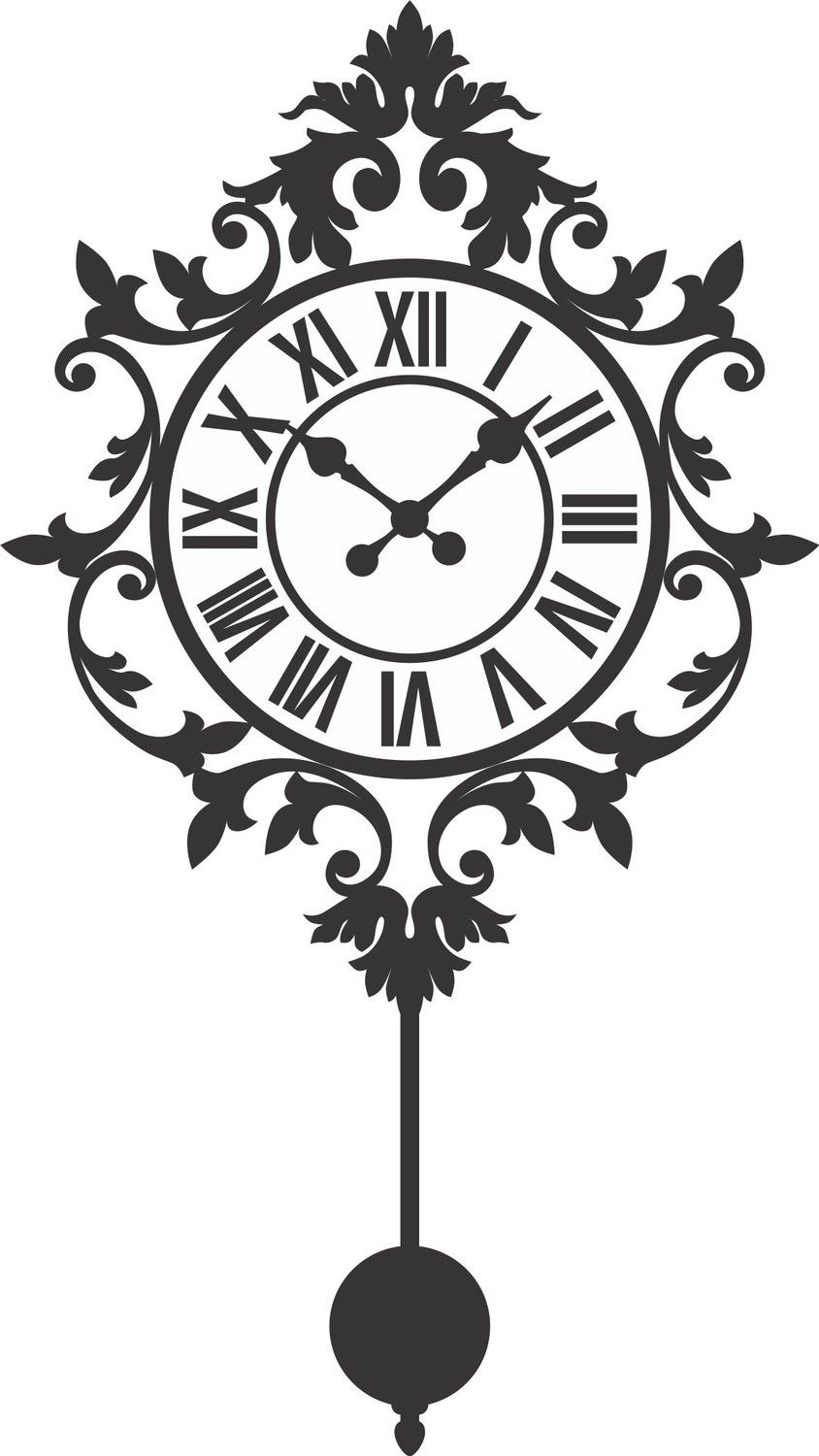 Old Clock Decal Sticker Wall Mural Art Graphic Vintage Victorian