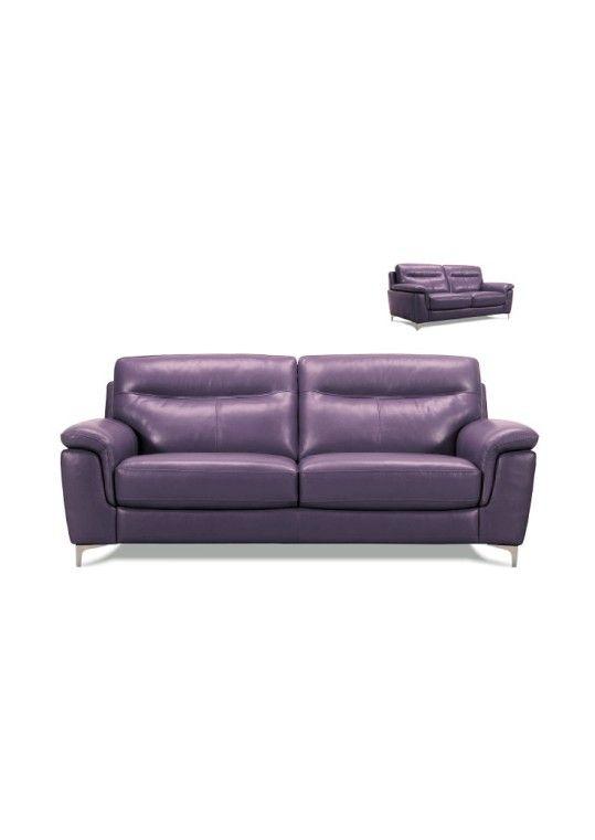 Mina 3 Piece Sofa Set Purple White