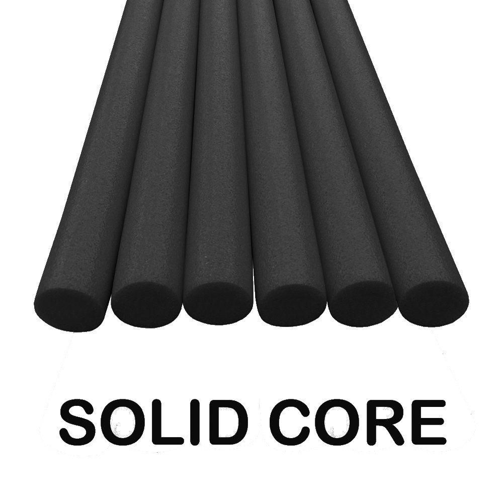Oodles Solid Core Deluxe Foam Pool Swim Noodles Five Foot Length 6 Pack Black 6 Pack Of Solid Foam Core Noodles Ev Swim Noodles Pool Toys Cool Swimming Pools