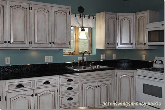 Paint And Glaze Cabinet Tutorial Glazed Kitchen Cabinets