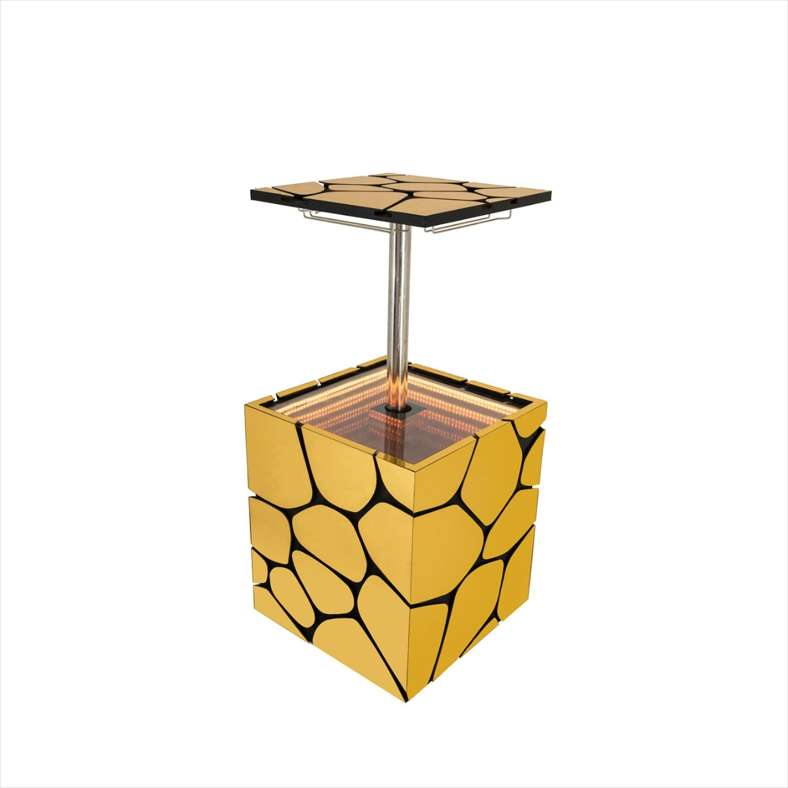 Aqua Cube Bar Table Cypraea Designed By Francesco Maria Messin Gold Mobile Bar Cabinet Bar Cabinet Design