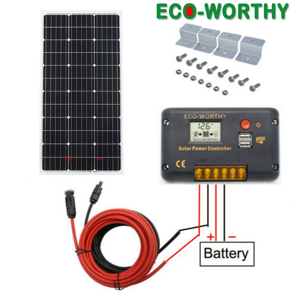 Pin On 100w Solar Panel Kit