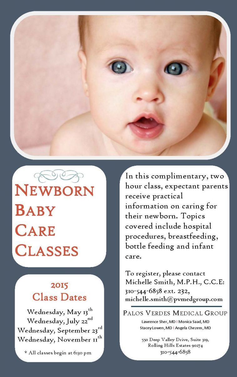 Weud love to have you at our complimentary newborn baby care class