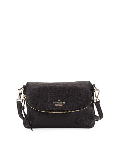4d68b7ec7 KATE SPADE JACKSON STREET SMALL HARLYN CROSSBODY BAG, BLACK. #katespade # bags #shoulder bags #leather #crossbody #lining #