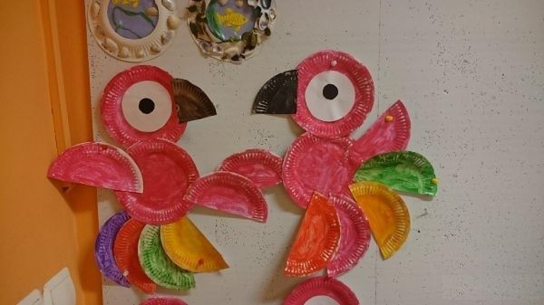 Paper Plate Parrot Craft Images - origami instructions easy for kids