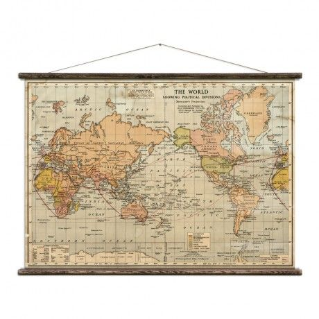 Political Map Of The World 2015.The World Mercator S Projection Wall Art Where The Wild Things