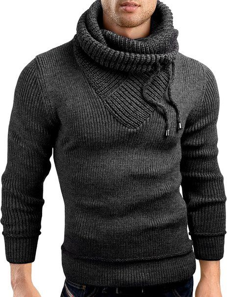 Mens Hooded Cardigan Winter Thick Long Sweater Shawl Knitted Toggle Coat Casual