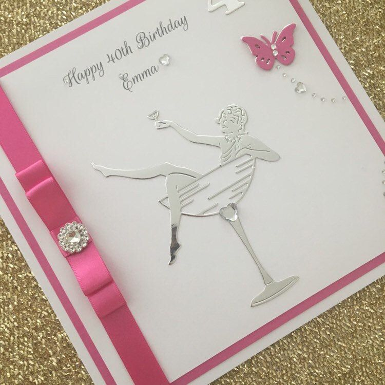 Luxury Personalised 21st 30th 40th 50th 60th 70th Etsy Luxury Birthday Cards Sister Birthday Card 70th Birthday Card