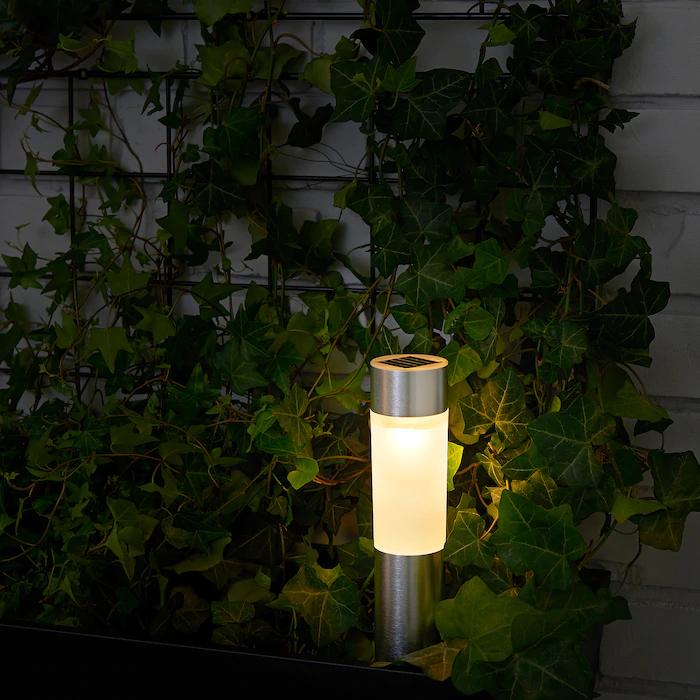 Solvinden Eclairage A Energie Solaire A Led Cylindre Couleur Aluminium En 2020 Energie Solaire Eclairage