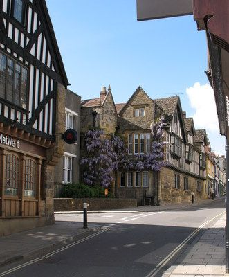The lovely historical town of Sherborne in Dorset, England