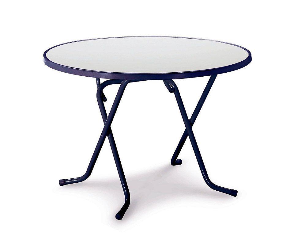 BEST Gartentisch »Primo«, Stahl/Kunststoff, klappbar, Ø 100 cm, blau ...