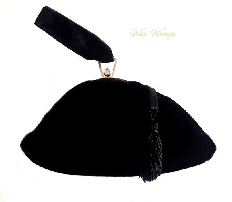 3e238d226 bolso antiguo, siglo xix, de terciopelo negro, de coleccion, fiesta, boda