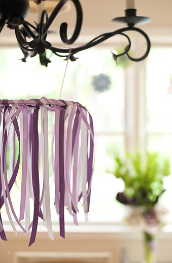 Ribbon Chandelier Coordinate Colors For A Baby Shower