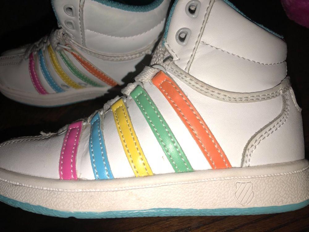 8e2ae65367 Needs new laces K Swiss Size 11 USA size 11 USA - Needs new laces rainbow  kids #fashion #clothing #shoes #accessories #kidsclothingshoesaccs  #unisexshoes ...