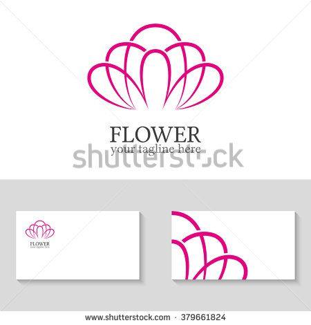 Abstract flower logo template. Floral logo. Spa logo. Flower shop ...