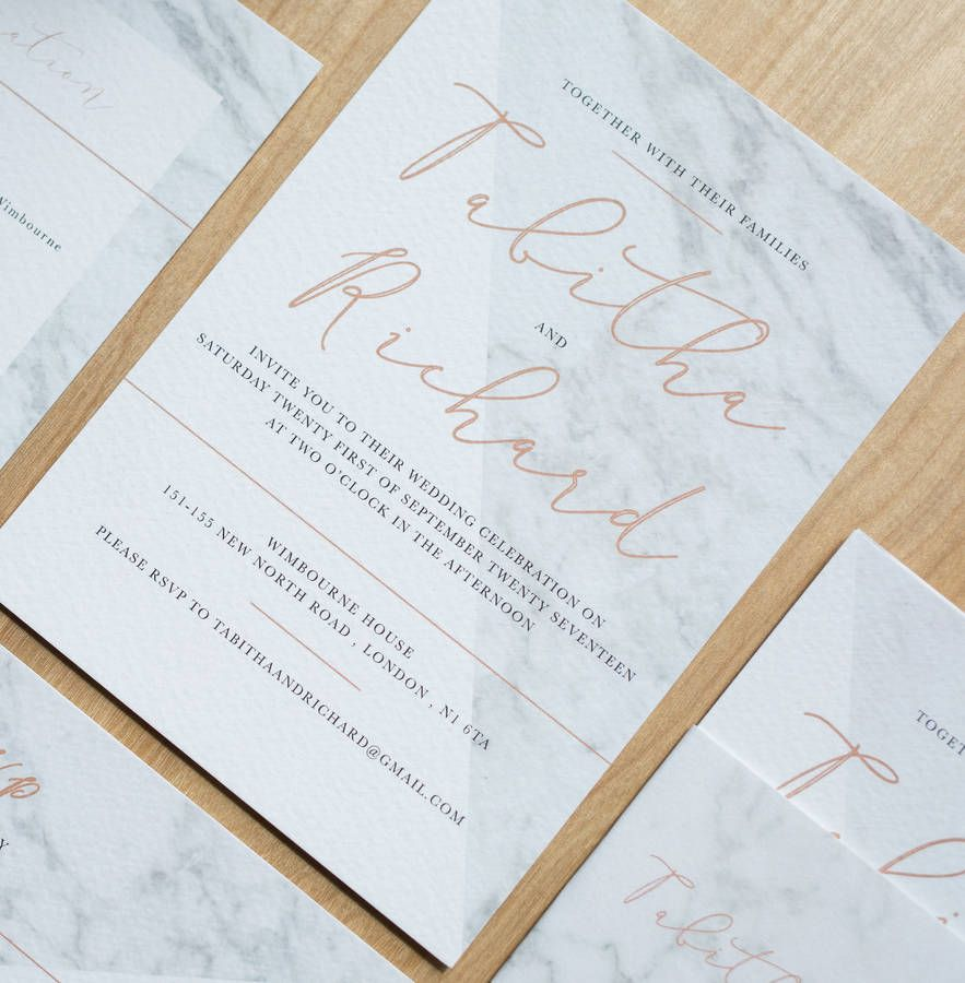 Modern Marble Wedding Invitation | Stationery design, Marbles and ...