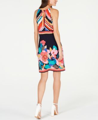 10b8bef090f Trina Turk Mixed-Print Jersey Halter Dress - Multi XS