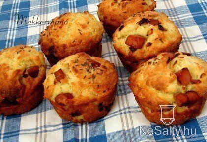 Sajtos-virslis muffin