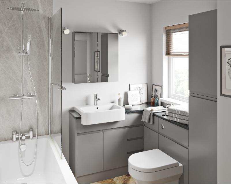 Wharfe Slate Grey Fitted Bathroom Furniture Fitted Bathroom Furniture Fitted Bathroom Bathroom Furniture Modern