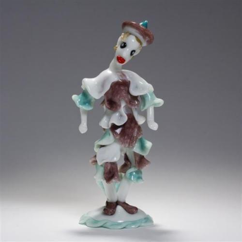 Seguso-Murano-art-glass-clown-Lot-111