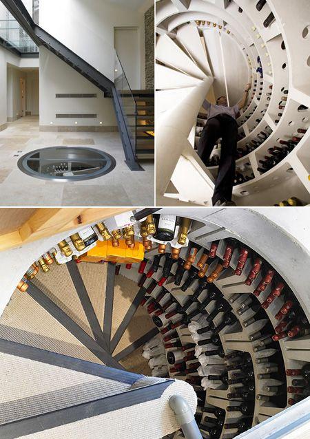 Underground Wine Cellar With Spiral Staircase Might Be World S Coolest Techeblog Wine Cellar Spiral Staircase