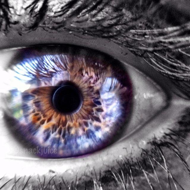 A macro shot of my eye
