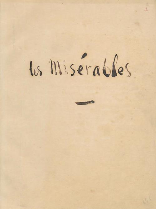 Original de la page du livre Les Misérables , écrite  par Victor Hugo.
